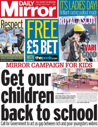 Daily Mirror 18 June