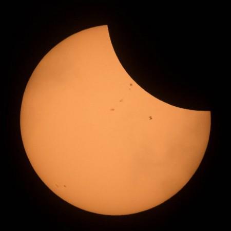 Partial solar eclipse, nasa,
