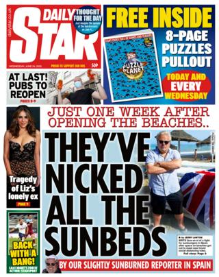 The Daily Star front page 24.06.20
