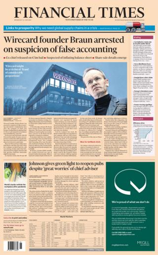 Financial Times front page 24.06.20
