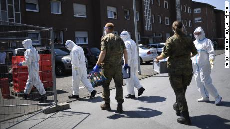 German authorities ordered a new lockdown for the entire district of Guetersloh on Tuesday.