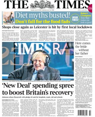 The Times front page 30.06.20