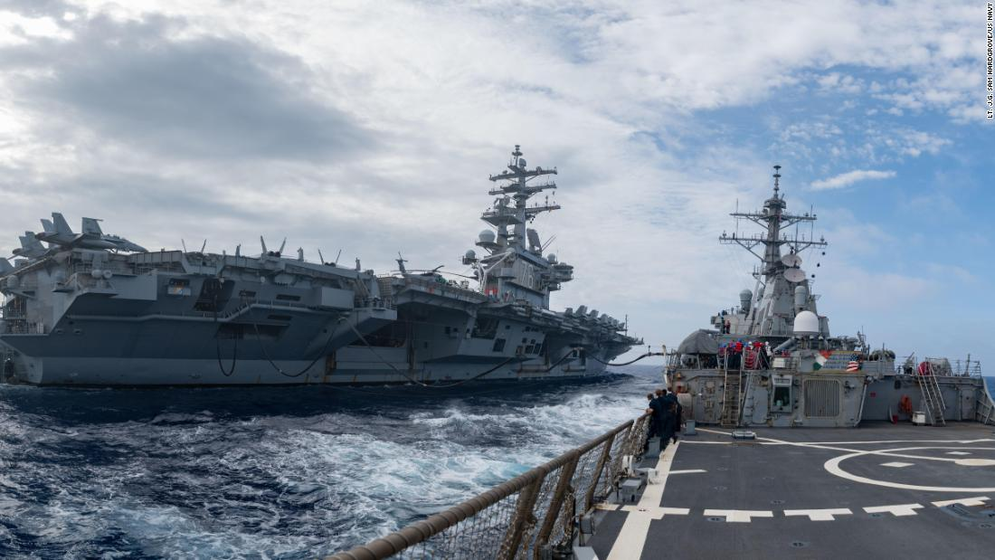3 US Navy aircraft carriers are patrolling the Pacific. And China's not happy