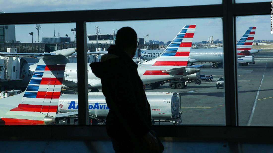 An American Airlines passenger was removed from a flight for refusing to wear a face mask