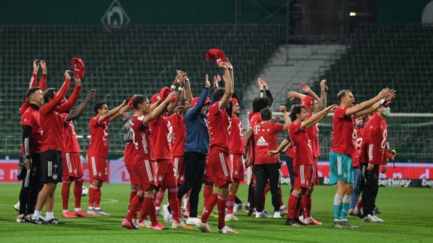 Bayern Munich win eighth successive Bundesliga title after beating Werder Bremen