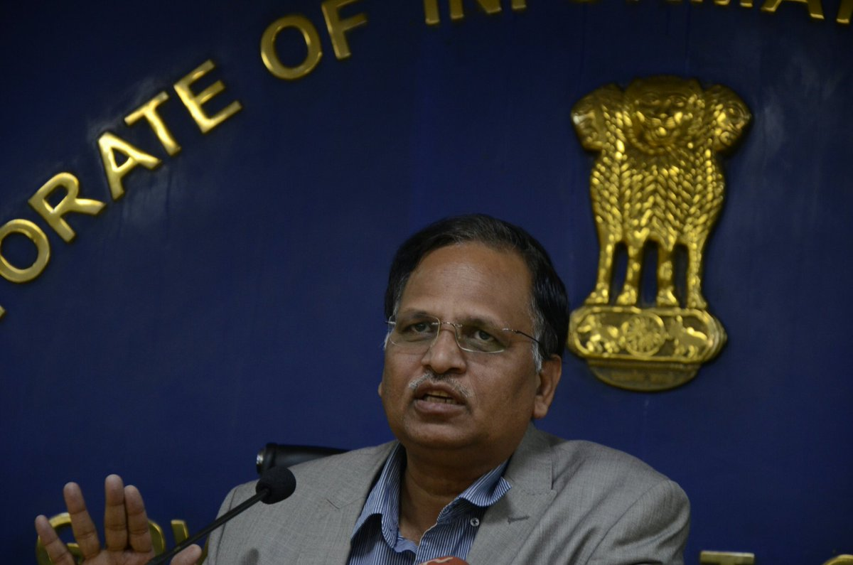 Delhi Health and fitness Minister Satyendar Jain assessments good for COVID-19