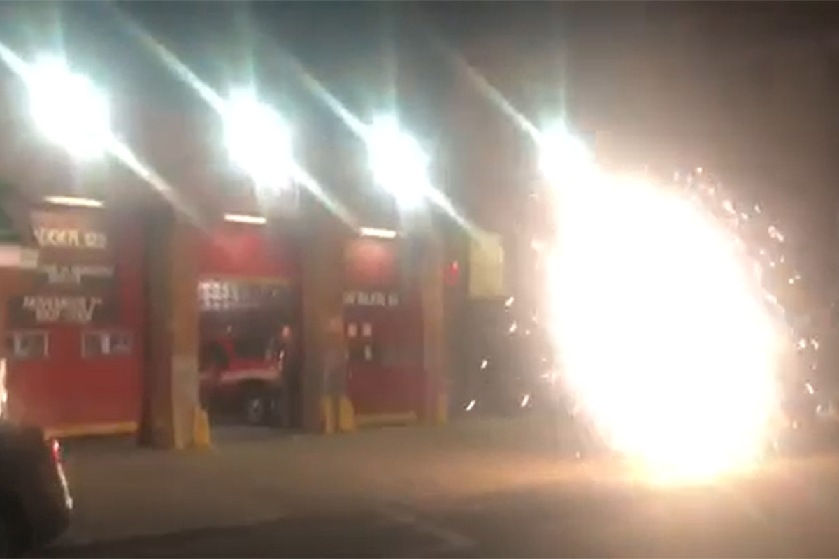 FDNY firefighters light off illegal fireworks in Brooklyn