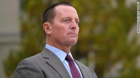 Then-US Ambassador to Germany Richard Grenell waits for the arrival of Secretary of State Mike Pompeo in November 2019 in Berlin, Germany.