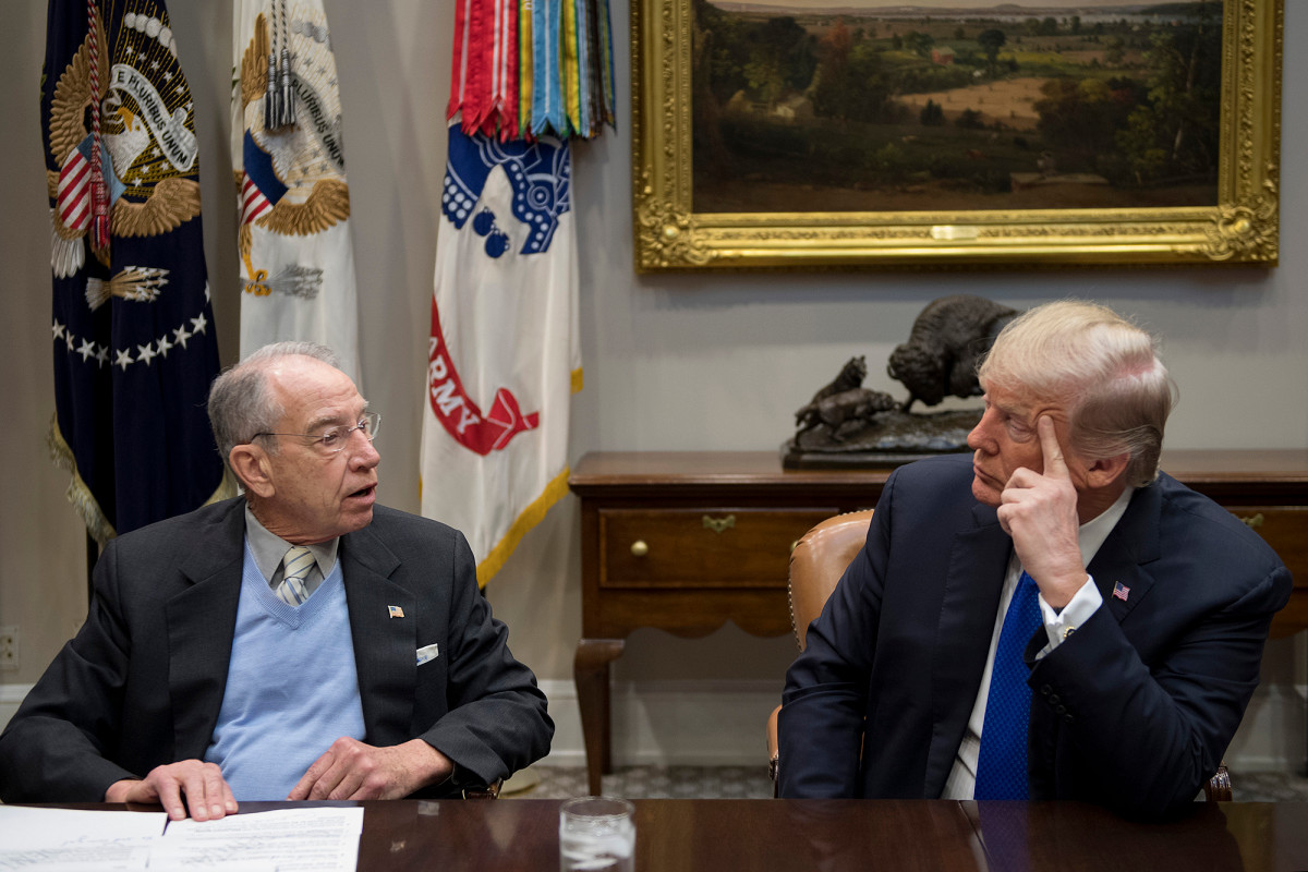 Grassley warns Trump to modify system or threat reelection