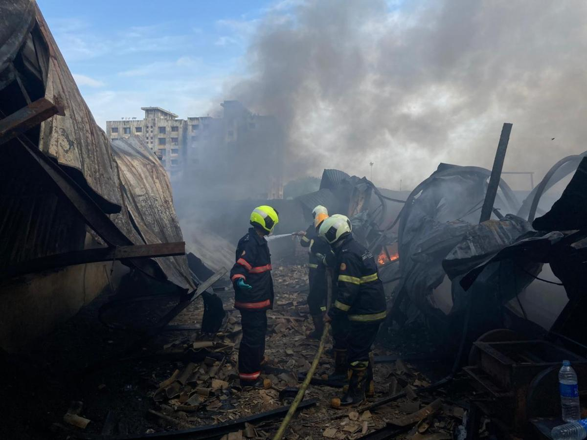 Important fireplace breaks out at scrap compound in Mumbai's Mankhurd, 4 fire tenders rushed to location
