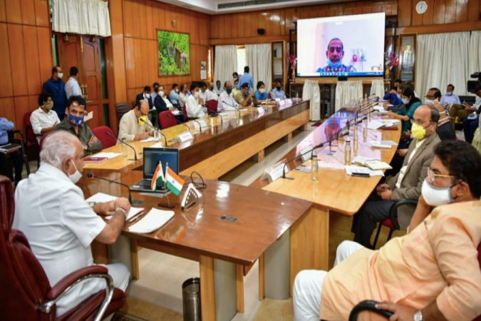 BS Yediyurappa meeting on COVID-19 rise in cases on 22nd June 2020
