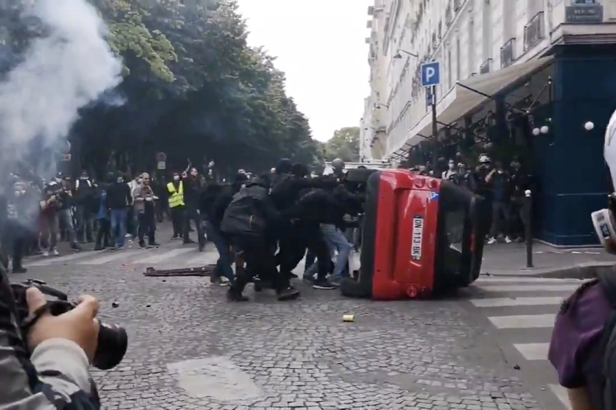Law enforcement blame anarchists for hijacking peaceful protest in Paris
