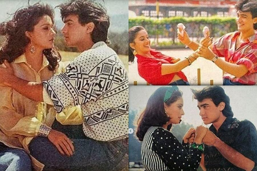 Madhuri Dixit remembers doing the job with Aamir Khan in Dil