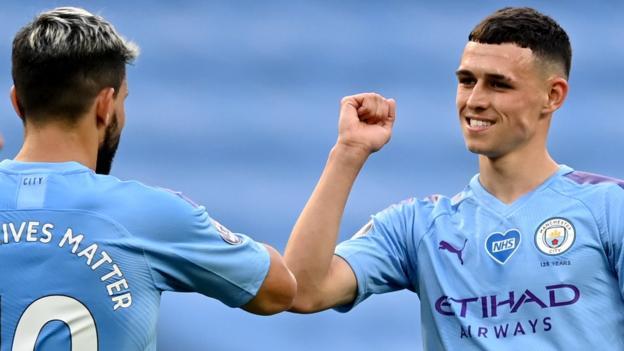 Man City 5-0 Burnley: Phil Foden & Riyad Mahrez both score twice in rout