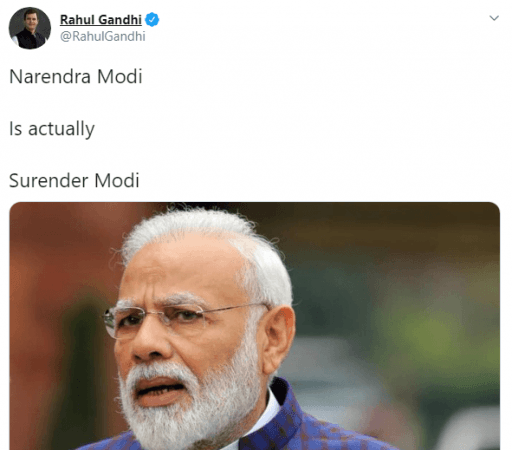 Rahul Gandhi tweet