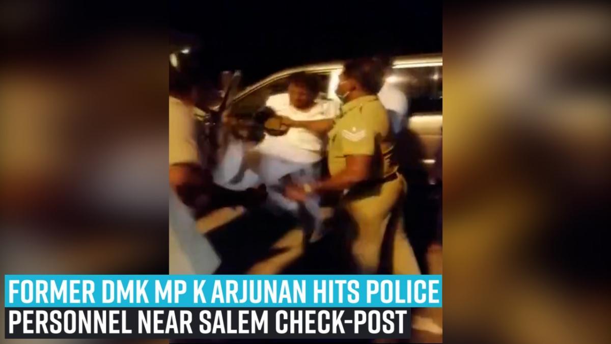 VVIP racism caught on cam: Former Tamil Nadu MP K Arjunan abuses, kicks cop at Salem checkpost