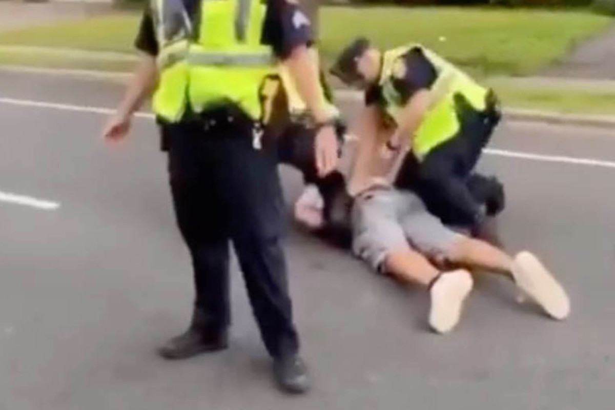 Long Island cop appears to deliberately block protester before arrest
