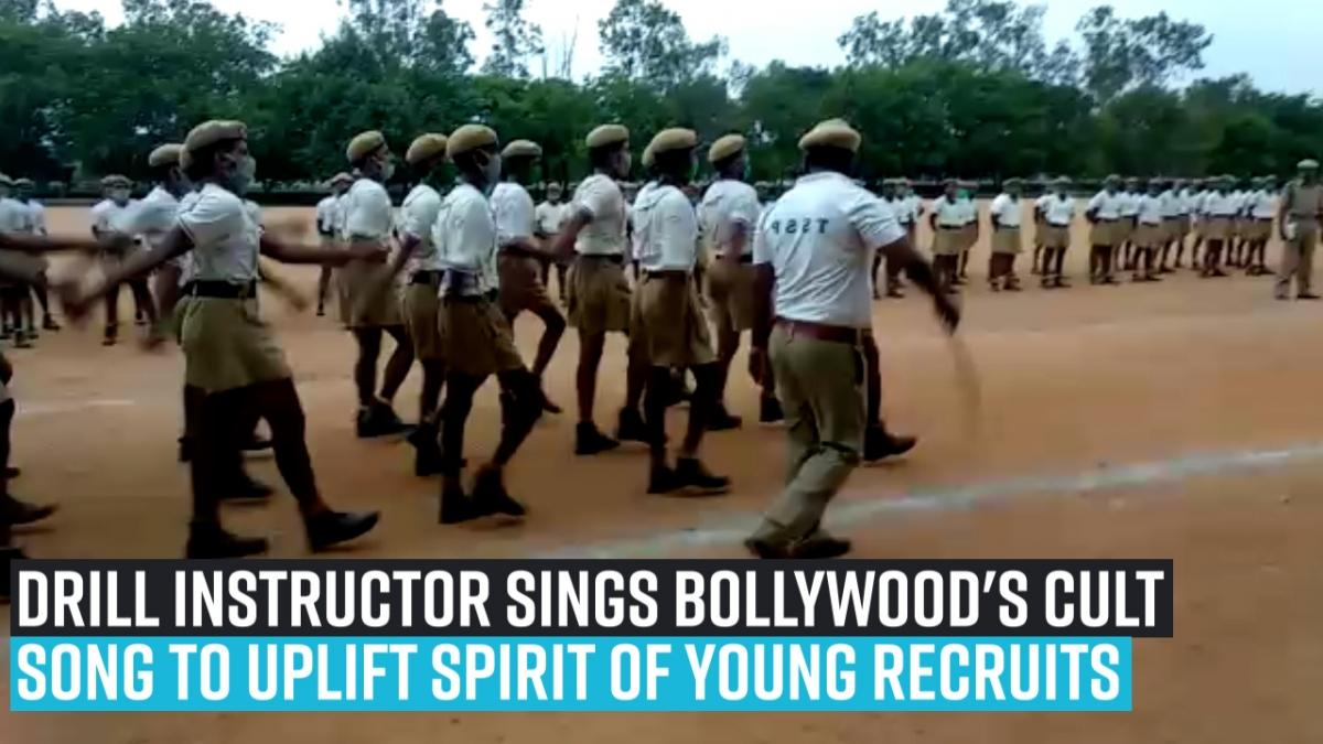 Drill instructor sings bollywood