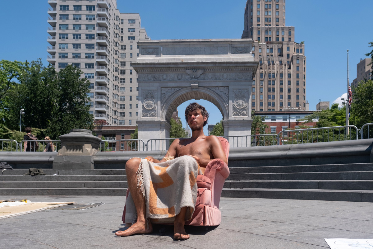 Washington Square Park's now a 'spiritual zone' for NYC squatter
