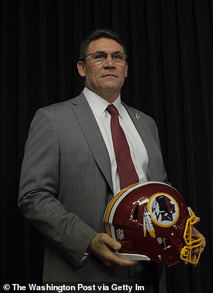 Earlier this week, new Redskins coach Ron Rivera told Chicago's 670 The Score that it wasn't the right time to discuss a potential name change. In Friday's statement, however, Rivera seemed ready for the change. 'This issue is of personal importance to me and I look forward to working closely with Dan Snyder to make sure we continue the mission of honoring and supporting Native Americans and our Military,' said Rivera