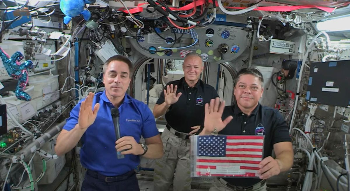 Astronauts celebrate Fourth of July from space station