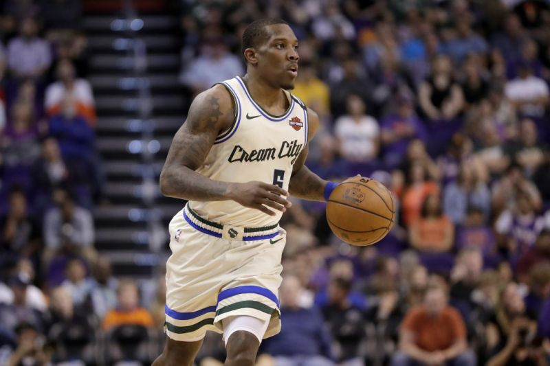 Eric Bledsoe tested positive for COVID-19 and didn't join his teammates in the Disney World bubble. (AP Photo/Matt York)