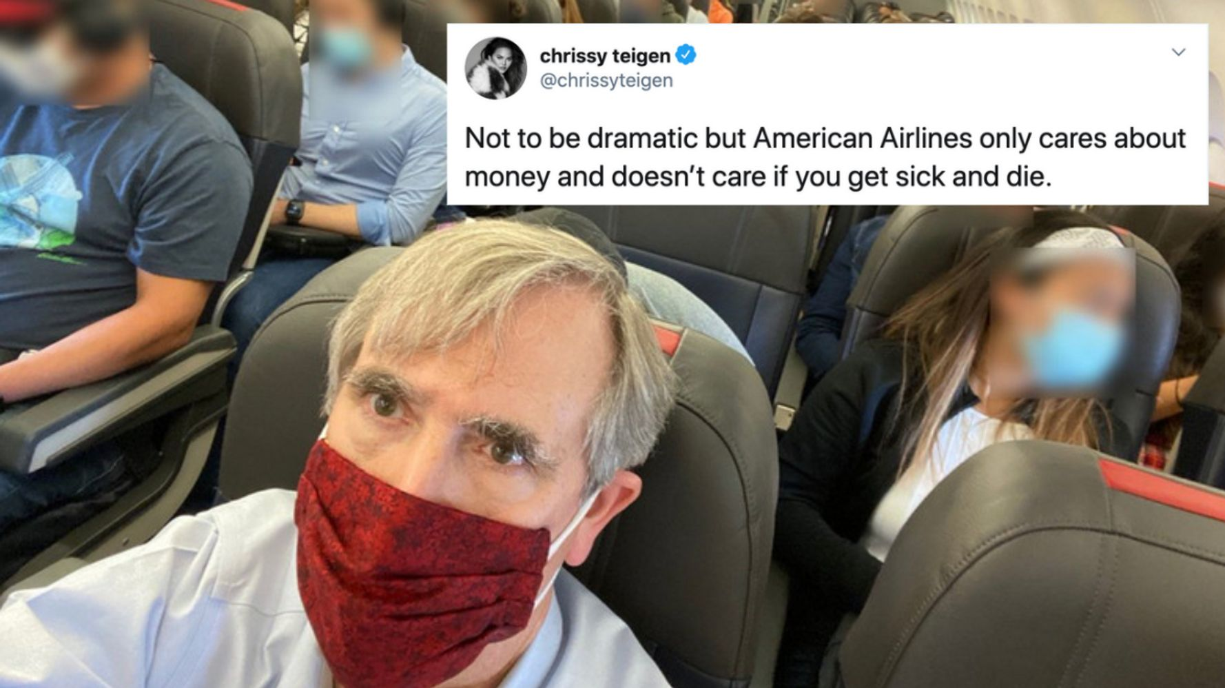 Chrissy Teigen Slams American Airlines: They Don't Care 'If You Get Sick And Die'