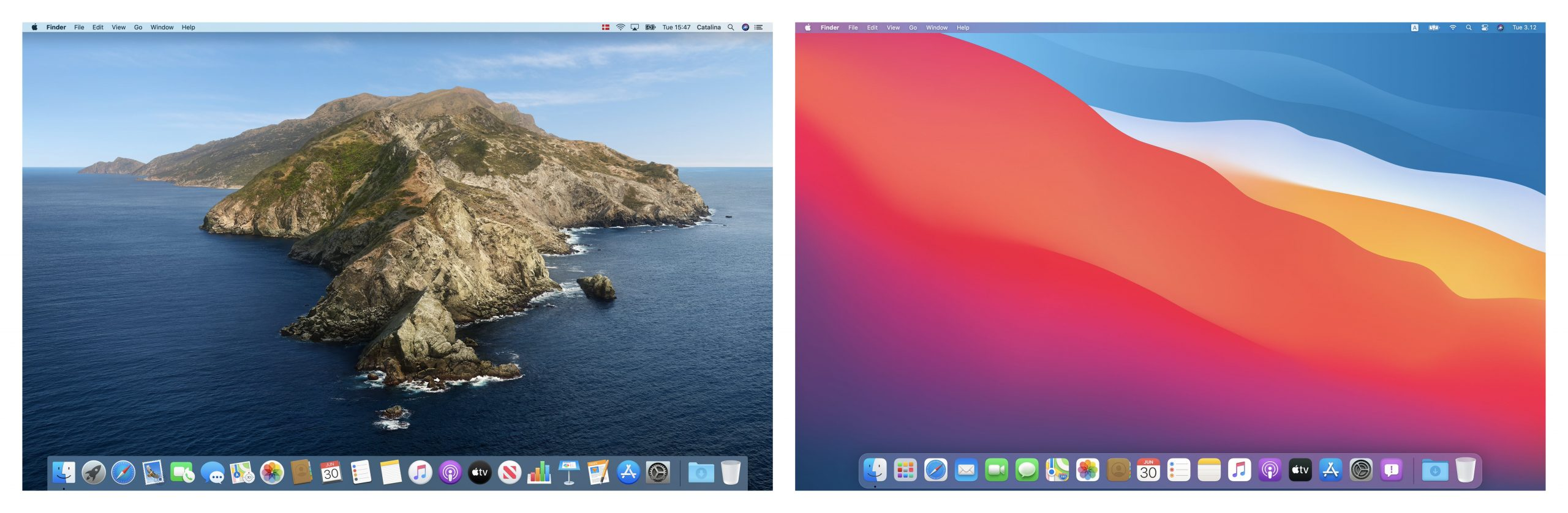 Developer's Visual Comparison of macOS Catalina and Big Sur Offers Closer Look at Apple's UI Redesign for Macs