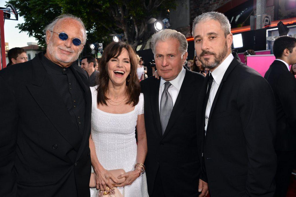 Avi Arad, Sally Field, Martin Sheen, and Matt Tolmach smiling at the camera