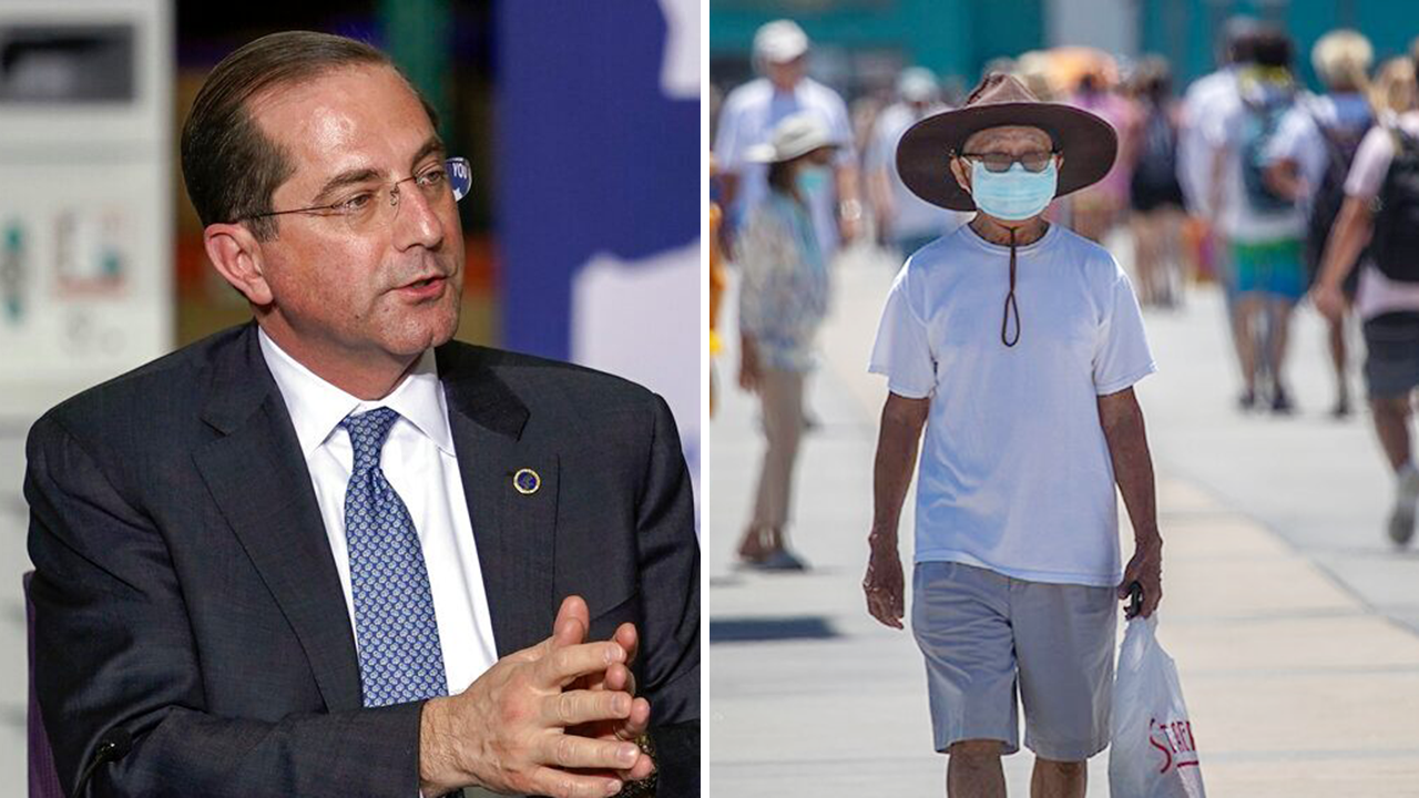 Experience masks producing coronavirus situation plateau but states 'not out of the woods': HHS secretary