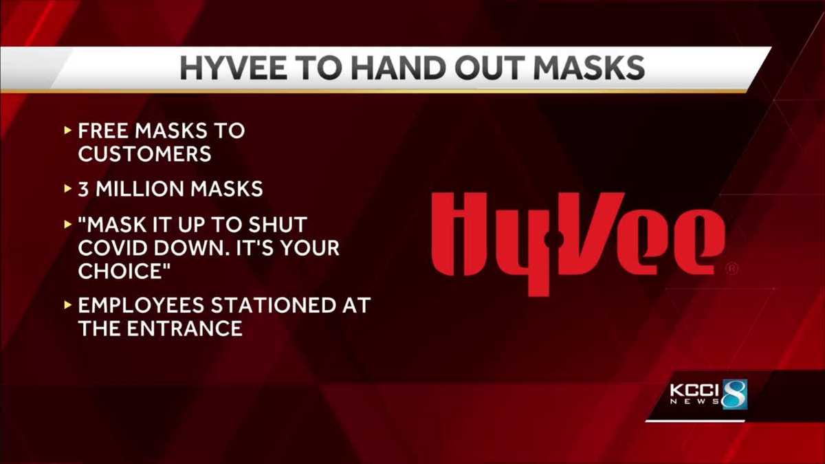 Hy-Vee announces campaign to hand out masks to shoppers without one