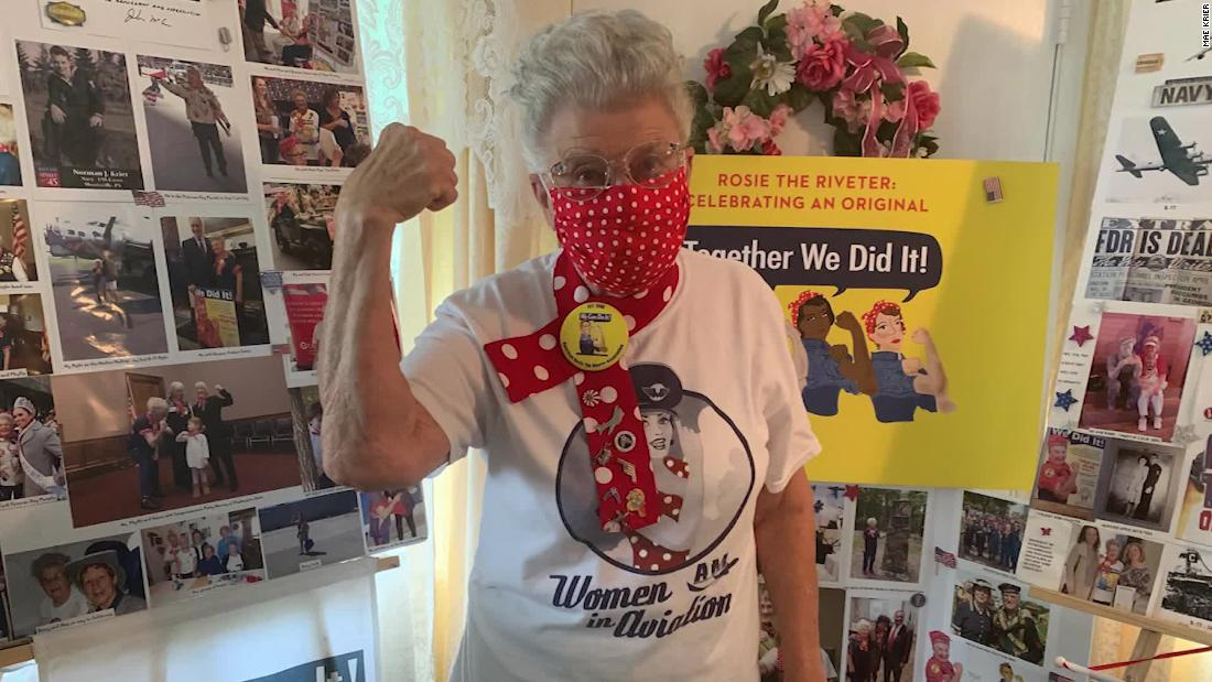 One of the original 'Rosie the Riveters' is now making masks to help defeat coronavirus