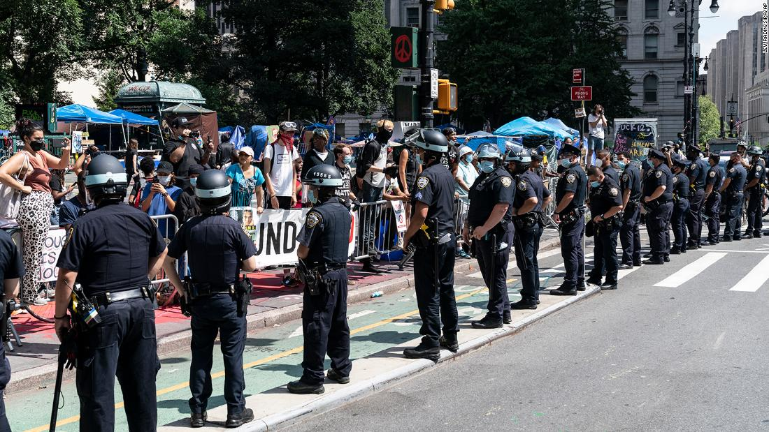 NYPD chief and 3 officers wounded next clash with protesters