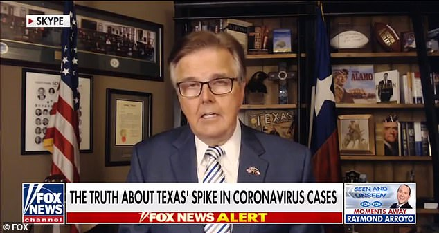 Dan Patrick, lieutenant governor of Texas, said Fauci 'doesn't know what he's talking about'