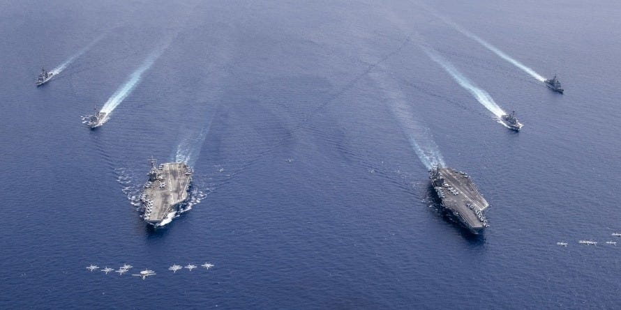 US Navy again has two provider strike teams in the South China Sea