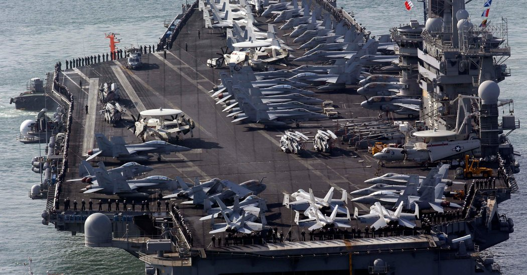With Beijing's Military Nearby, U.S. Sends 2 Aircraft Carriers to South China Sea