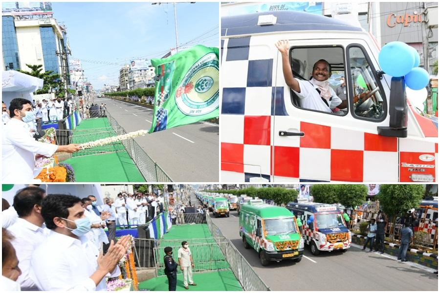 YS Jagan Mohan Reddy launches 1088 extremely-fashionable 108 and 104 ambulances on Doctor's Day