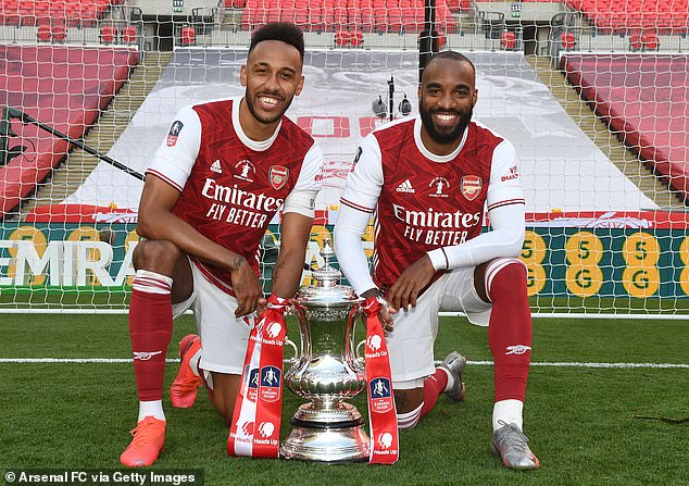 Lacazette looks set to move on if Pierre-Emerick Aubameyang signs a new deal at the club