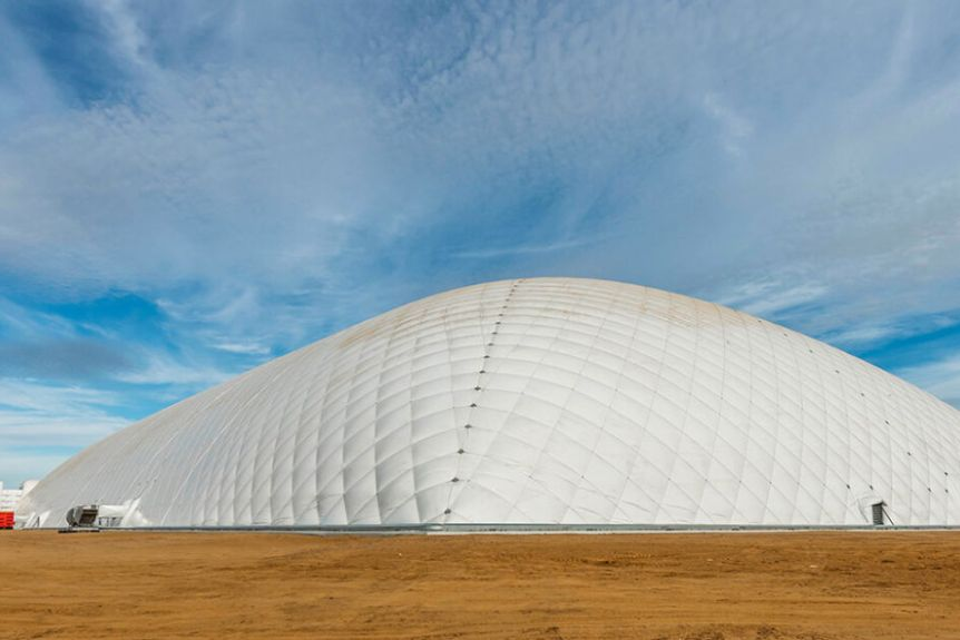 A large air dome structure.