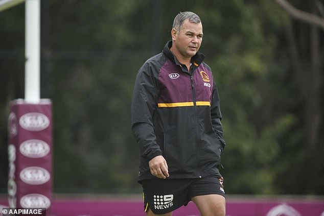 Seibold (pictured at Broncos training in July) has sought representation from legal firm Howden Saggers, who confirmed police involvement on Tuesday evening