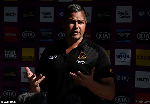 The revelations come after it was announced Seibold would sit out Brisbane's next two games and a fortnight's training after leaving the club's NRL bubble for personal reasons