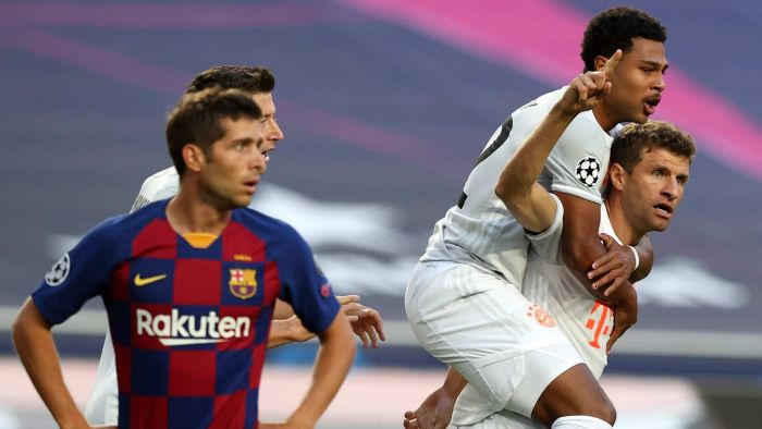 Bayern Munich stuns Barcelona 8-2 to reach Champions League semi-finals