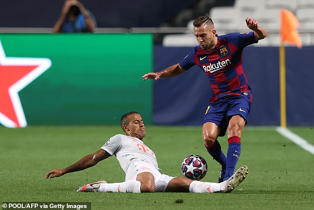 Jordi Alba also might have played his final Barcelona game during the Champions League loss