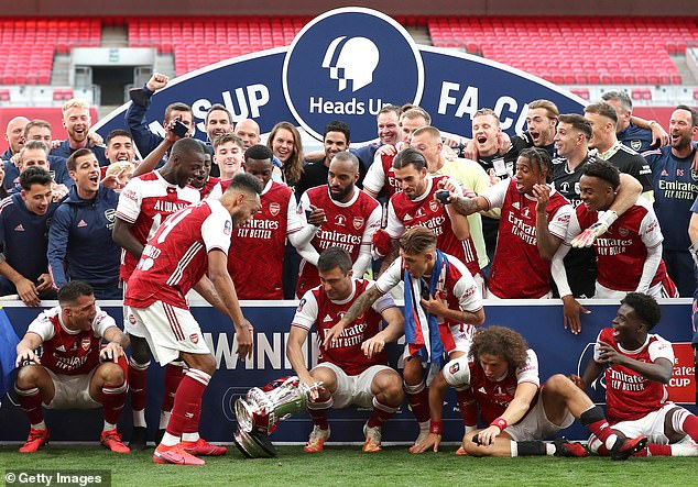 The Arsenal forward accidentally dropped the FA Cup trophy in their win earlier this month