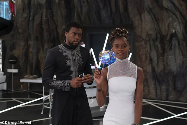 Who could be next? Possibilities include T'Challa's love interest and spy Nakia (Lupita Nyong'o), his 16-year-old sister and tech wizard Shuri (Letitia Wright, pictured), head of the all-female special forces Okoye (Danai Gurira), Border Tribe security head W'Kabi (Daniel Kaluuya), or mountain tribe leader M'Baku (Winston Duke)