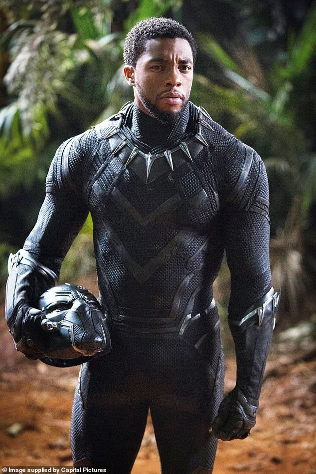 Gone too soon: Ryan Coogler's 2018 superhero blockbuster was headed up by Boseman as T'Challa, a man who returns home to the fictional African kingdom of Wakanda to fight to claim his rightful place on the throne after the death of his father