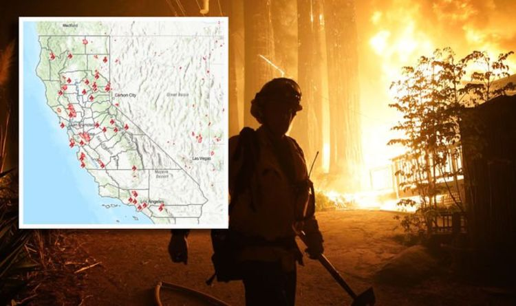 California fires mapped: How many fires are burning in California right now? | World | News