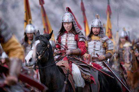 yifei liu as mulan on horseback
