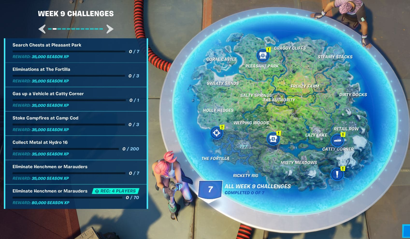 Fortnite Chapter 2 Season 3 Week 9 Challenges Available Now