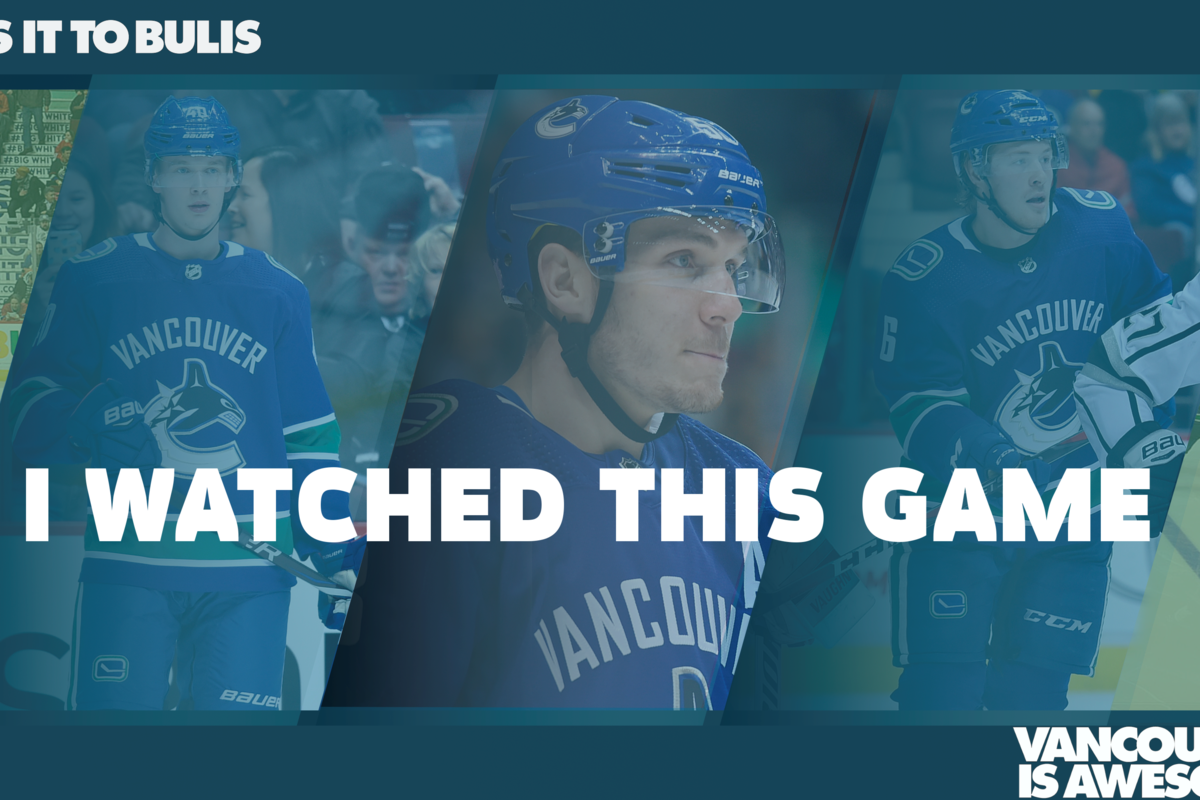 IWTG: Jacob Markstrom posts a wild shutout to give Canucks a 2-1 sequence direct